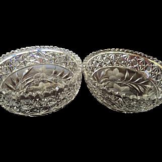 Two Pairpoint Bowl SAME PATTERN c.1905