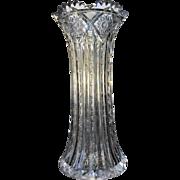 T.B. Clark  c.1896  Vase Palmetto Pattern Cut Glass