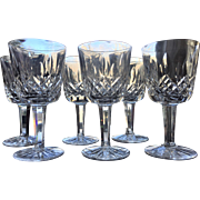 "3 1/2""  Lismore Waterford Liqueur Cocktail Cordial  Cut Glass Signed SET-6"
