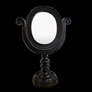 Early Wood Swivel Vanity Mirror Shaving Mahogany 19x13