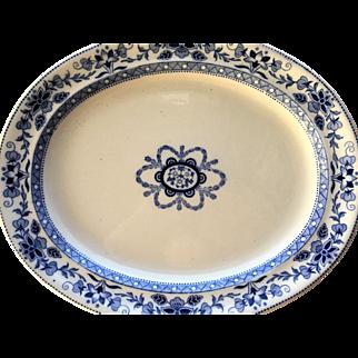 c.1884 Wedgwood Mandarin Harvest Platter 18 3/4 x 15 1/4  AUTHENTIC