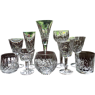 Stemware Collection WATERFORD Set-10 Variety Signed