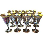 "Set-12 Tiffin Red Wine  Water Goblets 6 1/2"" x 3 3/8"""