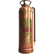 1881-1904 RARE Fire Extinguisher Jiffy Company New York  Copper Brass