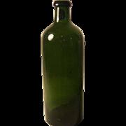 "c.1890 Hunyadi Janos Saxlehners Bitterquelle bottle Olive Green 9"""
