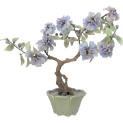 "17""x15"" Oriental Chinese Jade Tree Bonsai Tree GEMSTONES 6 lbs. Lavender"