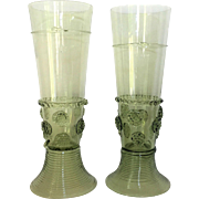 GREEN Juliska Bohemian Crystal Beer Ice Tea Hand Blown