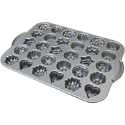 Nordic Ware Teacakes Pan Candies Pan Mold 30 Cakes