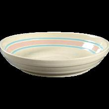 "14"" McCoy Nelson Pink Blue Pasta Bowl   c.1971"