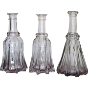 1830's RARE FIND Globular Bar Bottle Flint Decanter
