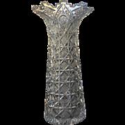 1890's SUPERB Cut Glass Vase American Brilliant Period