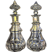 RARE Anglo Decanter c.1830 PAIR Irish England