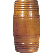 1930's   Tobacco  Humidor  Barrel   Wood Turned