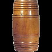 Individual Size  1930's   Tobacco  Humidor  Barrel   Wood Turned