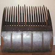 "Primitive Rocker Style Cranberry Scoop Rake Lg 20""  Wood Tin  C.W.D. Co."