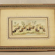 Persian Miniature Painting on Bone POLO PLAYERS