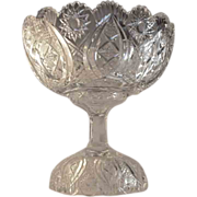 LIBBEY  Punch Bowl Cut Glass circa 1900  Signed