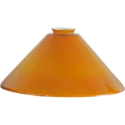 One Vintage  HAND BLOWN  Amber Glass  Lamp Shade  Hanging  Pendant
