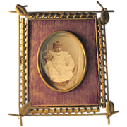 1860's  Brass Frame  Picture Frame   Baby Photo  SUPERB