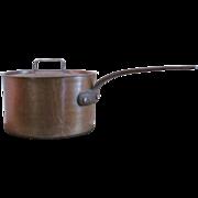 9+ lb.  Copper Pan  Copper Pot  France   VINTAGE  Pot & Cover