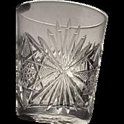 EIGHT  Cut Glass  Shot Glass  Cordial  Liquor  c.1900's