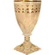SET-FIVE  1940's  Kosta Boda  Cut Glass  Goblet  Wine  RARE Crystal