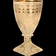 SET-FIVE  1940's  Kosta Boda  Cut Glass  Goblet  Wine  RARE
