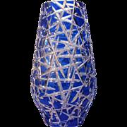 Josefodol Glass  Caesar Crystal  Vase  c.1980  Cut Glass  Bohemian