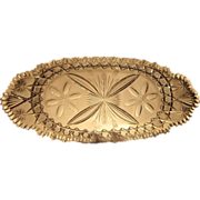 Huntley or Libbey  Cut Glass  Bread Tray  c.1910-1915