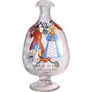 Stiegel Bottle  Enameled  Decanter  Bohemian