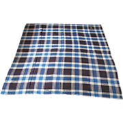c.1840-50 SIGNED Hand Woven Coverlet Blanket Reversible Pattern
