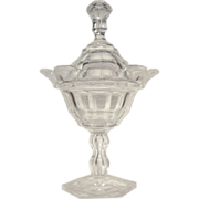c.1840-60 RARE  Anglo Irish Cut Glass  Compote  Sweet Meat Jar