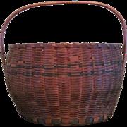 Basket  Native American  Seneca  Allegheny  Iroquois  Ash Splint   c.1890  Native American