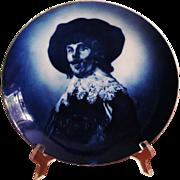 LARGE  Delft Plate  Platter  RXC  Portrait of Rembrandt  c.1880