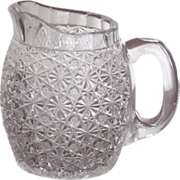 Persian Russian Pattern  Cut Glass Jug  Pitcher  Crystal  c.1890's  RARE
