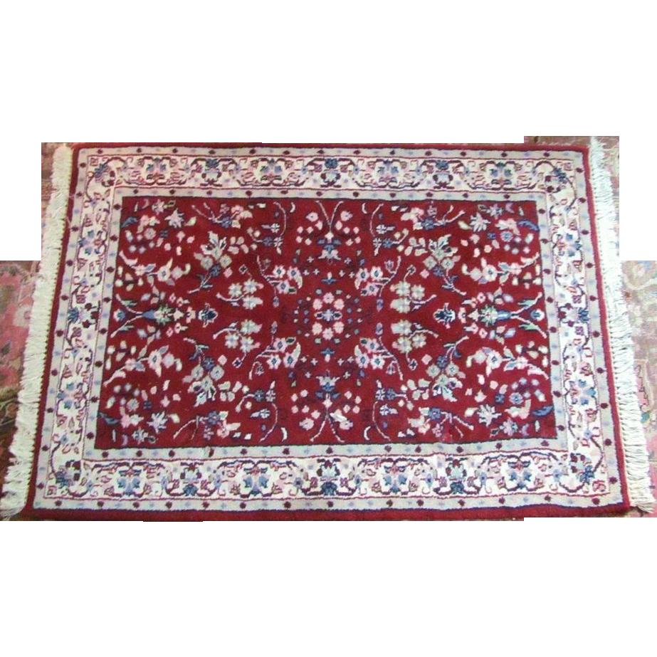 """4'x2'9"""" Oriental Rug Handmade 100% Wool VINTAGE From"""