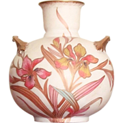 Vase Stoke On Trent Pointons Hand Painted Staffordshire Porcelain 1850-1899