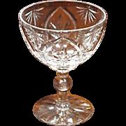 Webb Corbett  Saucer Champagne Gothic Pattern