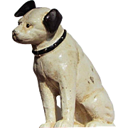 Cast Iron Bank  RCA Dog Bank  Nipper  c.1910-1920's  Glass Eyes  AUTHENTIC