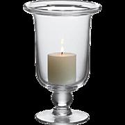 LARGE Simon Pearce Hurricane  Candle Holder  Hartland Pattern  Crystal