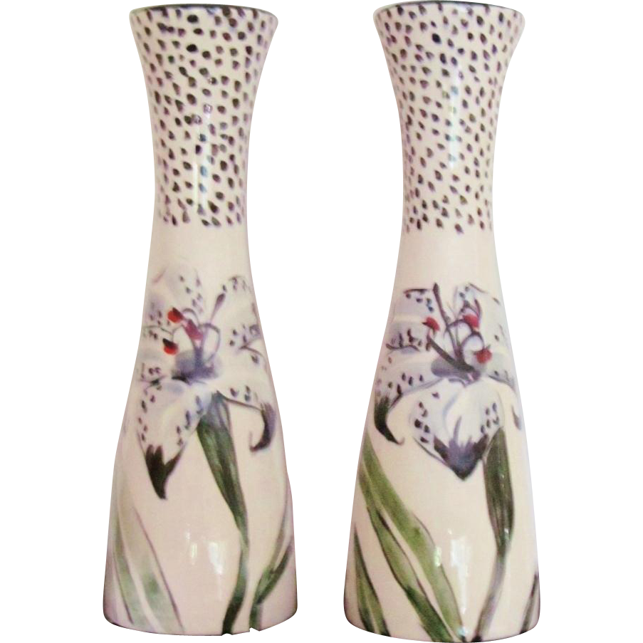 Hand Painted Droll Designs Salt And Pepper Shakers Vintage