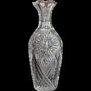 1890-1910 Vase Cut Glass SPECTACULAR Crystal