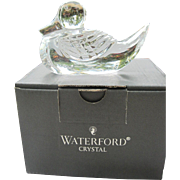 Waterford Paperweight Mallard Duck BOXED Signed Cut Glass Crystal