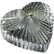 LOVERS  Waterford Heart Paperweight Crystal Signed