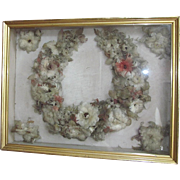 Victorian Feather Wreath  Bridal Wreath  Wedding Wreath  MUSEUM QUALITY