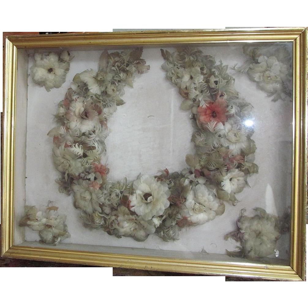 Victorian Feather Wreath Bridal Wreath Wedding Wreath