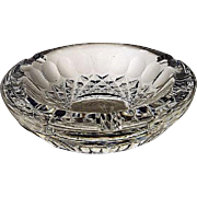 Waterford Ashtray Colleen Pattern SIGNED Cut Glass Crystal