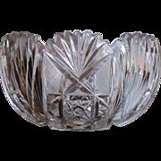 10 lbs. ABP 1890's Cut Glass Punchbowl  Punch Bowl Bowl Centerpiece