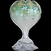RARE Moser Bohemian Vase Enameled Gilding c.1885