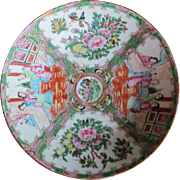 AUTHENTIC 19th c. Chinese Rose Medallion Charger Bowl